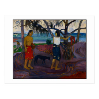 Under the Pandanus, 1891 (oil on canvas) Postcard
