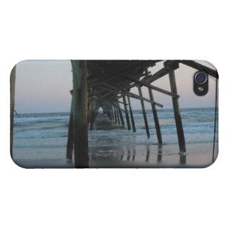 Under the Pier - Oak Island, North Carolina iPhone 4 Cover