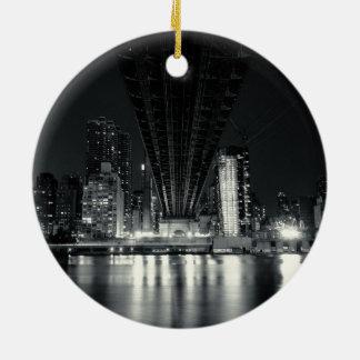 Under the QueensBoro Bridge - NYC Christmas Ornament