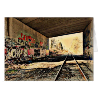 Under the Railroad Bridge Greeting Card
