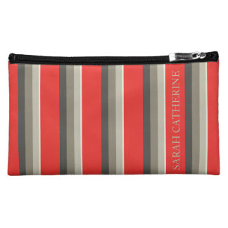 Under the Red Umbrella Palette Stripe Personalized Cosmetic Bag