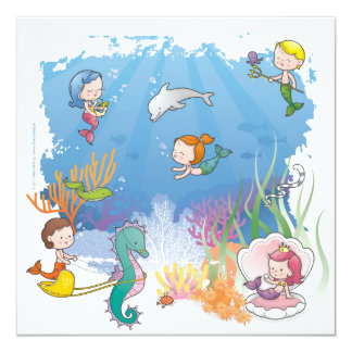 Under the Sea 13 Cm X 13 Cm Square Invitation Card