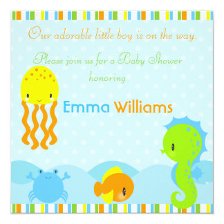 Under the Sea Baby Shower 5.25x5.25 Invitation
