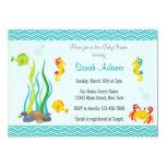 Under The Sea Baby Shower Invitation Ocean Blue