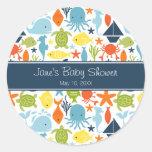 Under the Sea Baby Shower Round Sticker