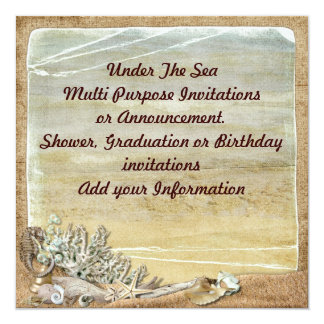 Under the Sea Beach Multi purpose Invitation