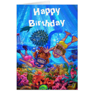 Under the Sea Birthday Card