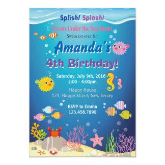 Under The Sea Birthday Invitation