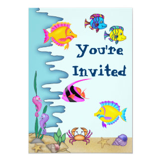Under the Sea Birthday Invitation for Girls