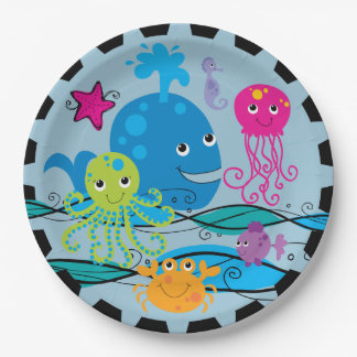 Under the Sea Birthday Paper Plates 9 Inch Paper Plate