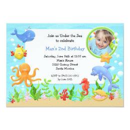 Under The Sea Birthday Party Invitations Announcements Zazzlecouk