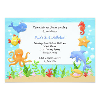 under the sea birthday party invitation - Under The Sea Party Invitations