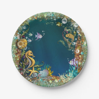 Under The Sea Birthday Party Paper Plate