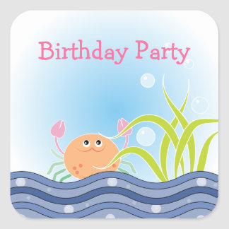 Under The Sea Birthday Party Stickers
