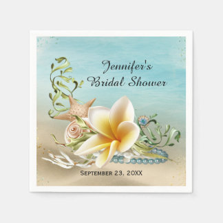 Under the Sea Bridal Shower Paper Napkins