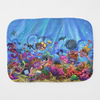 Under the Sea Burp Cloth