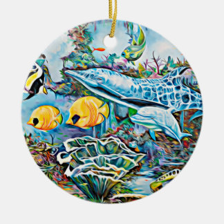 Under the Sea Creatures Ocean Christmas Ornament