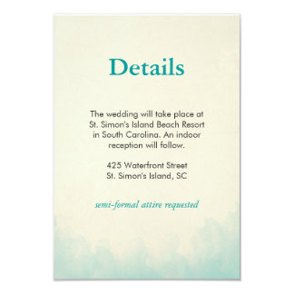 Under the Sea Details card 9 Cm X 13 Cm Invitation Card