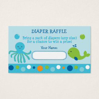 Under the Sea Diaper Raffle Tickets
