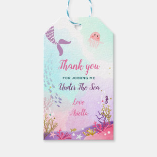 Under the Sea Favor tags Mermaid Birthday Party
