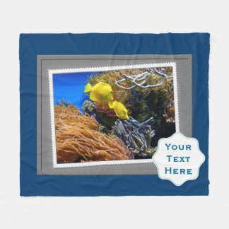 Under the Sea Fish Photography Print Fleece Blanket