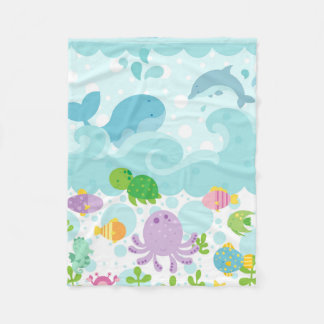Under the Sea Flannel Blanket