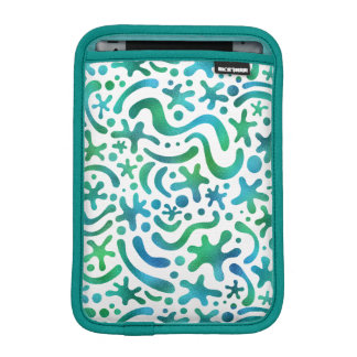 Under the Sea Funky Blob and Squiggle Pattern iPad Mini Sleeve