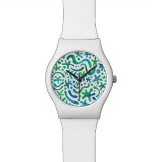 Under the Sea Funky Blob & Squiggle Pattern Watch
