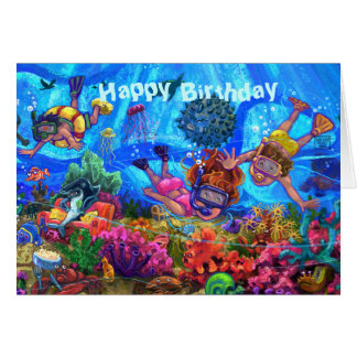 Under the Sea Happy Birthday Card