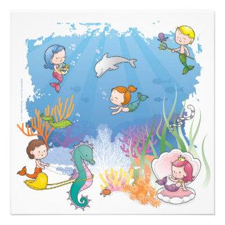 Under the Sea Personalized Invitations