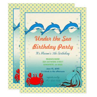 Under the Sea Invitation  Birthday Party