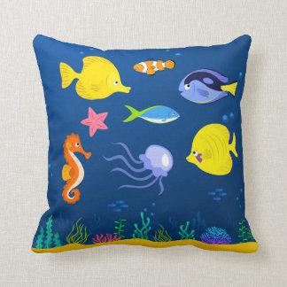 Under the Sea Jellyfish Seahorse Starfish Seaweed Cushions