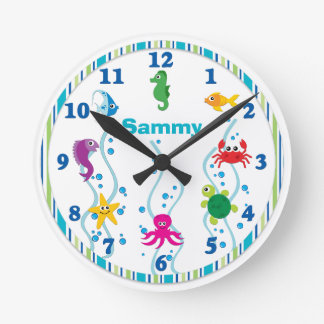 Under the Sea Kids Room Clock