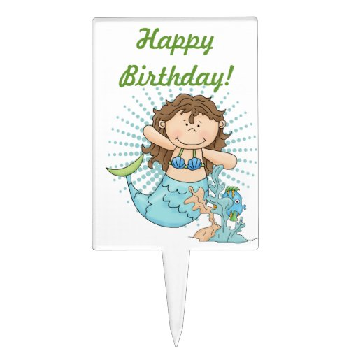 Under the Sea Mermaid Birthday Party Cake Topper
