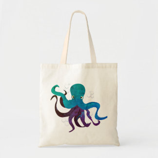 Under the sea - multicoloured octopus tote bag