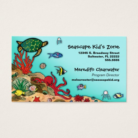 Under the Sea- Ocean Life Profile Card