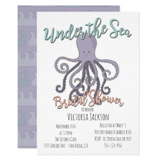 Under the Sea Octopus Bridal Shower Card