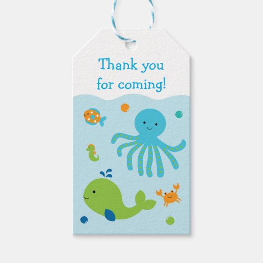 Under The Sea Party Favour Tags
