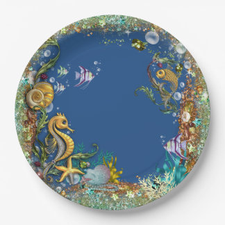 Under The Sea Party Paper Plate