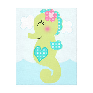 Under the Sea/Pink Whale Canvas Art Gallery Wrapped Canvas