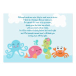 Under the Sea/Pink Whale Favour Tag/Card
