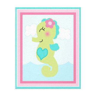 Under the Sea/Pink Whale/Seahorse Canvas Art Canvas Prints