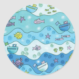 Under The Sea Round Sticker