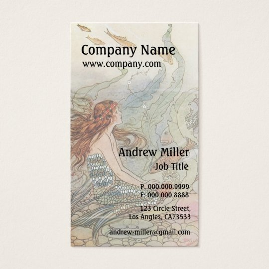 Under the Sea Vintage Mermaid Business Card