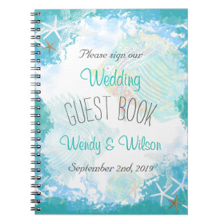 Under the Sea Wedding Guest Book Notebooks