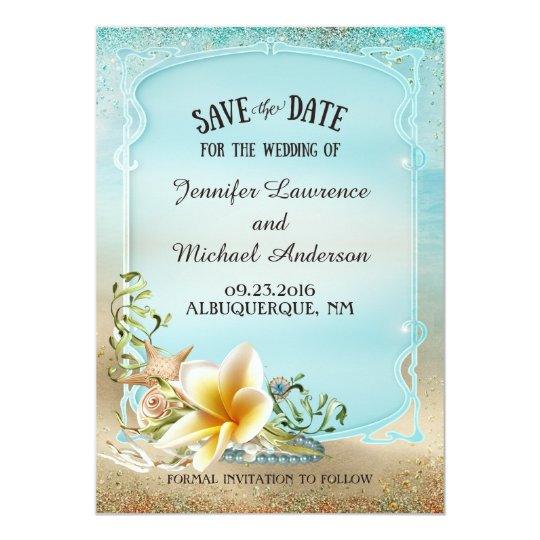 Under the Sea Wedding Save the Date Card