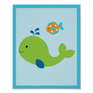 Under The Sea Whale Nursery Poster