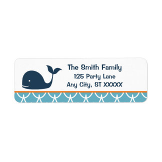 Under the Sea, Whale Return Address Label