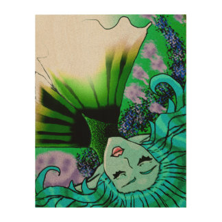 under the sea wood canvas