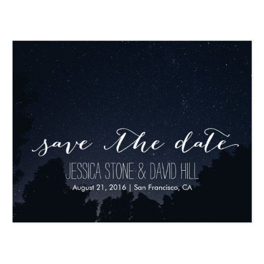 Under the Stars Elegant Wedding Save the Date